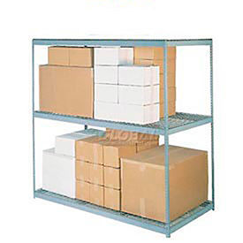Made in USA - 8'H Boltless Wide Span Metal Storage Rack With Wire Deck