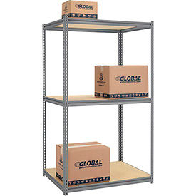 Made in USA - 8'H High Capacity (Z-Beam) Boltless Metal Rack With Wood Deck