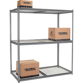 Made In USA - 8'H High Capacity (Z-Beam) Boltless Metal Rack With Wire Deck