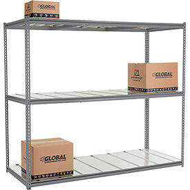 Made in USA - 8'H High Capacity (Z-Beam) Boltless Metal Rack With Steel Deck