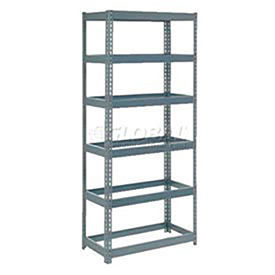 6' High Boltless Steel Shelving Without Decking - Made in USA