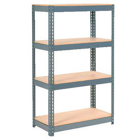 6' High Boltless Steel Shelving With Wood Deck - Made in USA