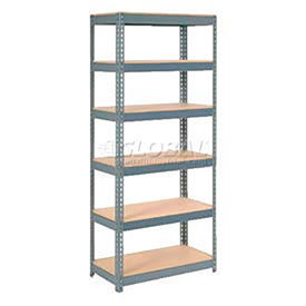 7' High Boltless Steel Shelving With Wood Deck - Made in USA