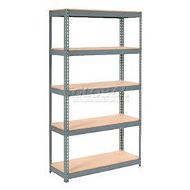 8' High Boltless Steel Shelving With Wood Deck - Made in USA