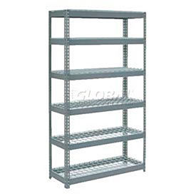 7' High Boltless Steel Shelving With Wire Deck - Made in USA