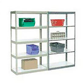 7' High Boltless Steel Shelving With Laminated Shelves - Made in USA