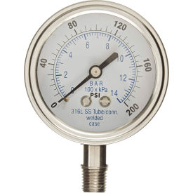 PIC Gauges Stainless Steel Industrial Pressure Gauges