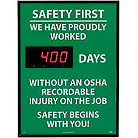 Scoreboard Record Safety Signs
