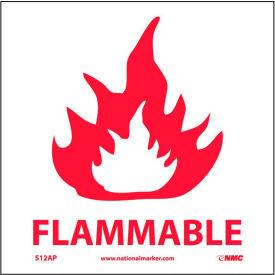 Étiquettes de matériaux inflammables