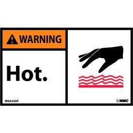 Surface chaude, température et étiquettes de travail