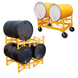 Stackable & Portable Drum Storage Racks