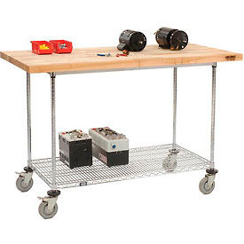 Mobile Chrome Wire Workbenches