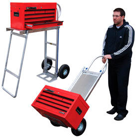 Aluminum Hand Truck with Folding Workbench