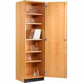 Wood Tall Storage Cabinet Single Door