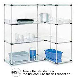 Galvanized Steel Solid Shelving