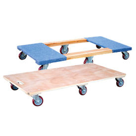 6-Wheel Wood Deck Movers Dollies