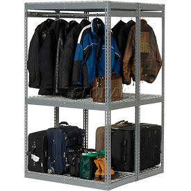 7' High - Boltless Luggage Garment Rack