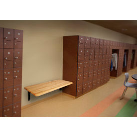 ADA Locker Bench With Wall Mount Bracket