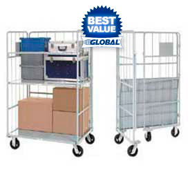 Global Industrial™ Nest Away Folding Steel Shelf Truck
