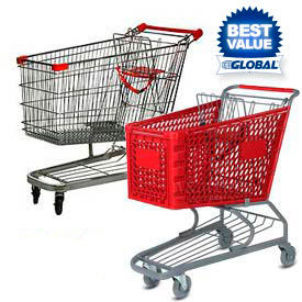 Plastic & Steel Shopping Carts