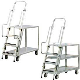 New Age Aluminum Stock Picker, Step Ladder Carts