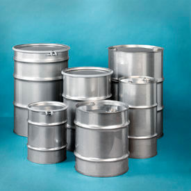 Skolnik Closed & Open Head Stainless Steel Drums