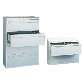 Tennsco - Tennsco Deluxe Lateral Files - Retracting Or Fixed Front Drawers