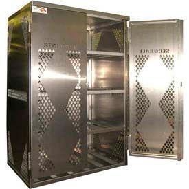 Gas Cylinder Storage Cabinets - Aluminum