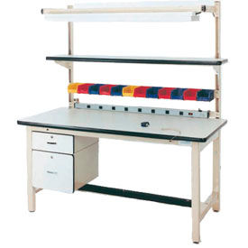 Square Tubular Leg Fixed Height Workbenches
