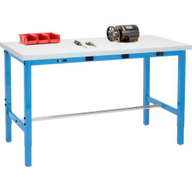 Global Industrial™ Heavy Duty Height Adjustable Production Workbenches with Power Apron