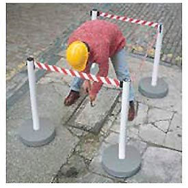 Outdoor High Visibility Barrier PVC Post