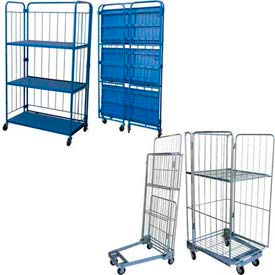 Folding Roller Container Shelf Trucks