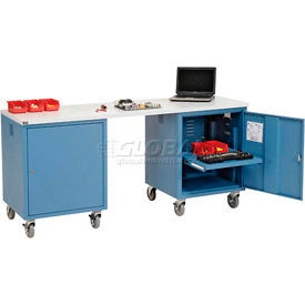 Global Industrial™ Mobile Pedestal Computer Workbenches