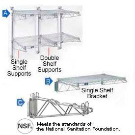 Wall Mount - Wire Shelving Accessories & Components