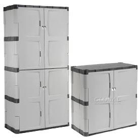 Rubbermaid Plastic Storage Cabinets - Easy To Assemble