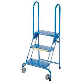 Aluminum Lock-N-Stock Folding Rolling Ladders