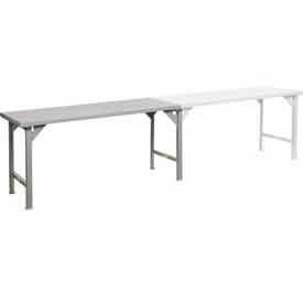 Largeur continue 12 Gauge Steel Top Production Tables