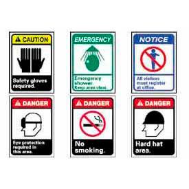 Signes de graphiques haute visibilité ANSI Danger, mise en garde et avis
