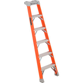 Louisville Fiberglass Pro Shelf Ladders