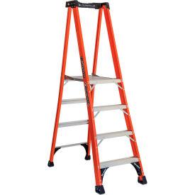 Louisville Fiberglass Pro Platform Ladders