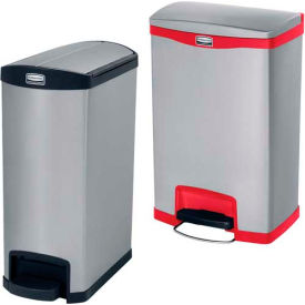 Rubbermaid® Slim Jim® Stainless Steel Step On Containers