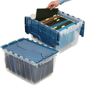 Akro Mils KeepBox Clear Security Containers With Hinged Lids