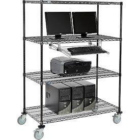Poste de travail mobile fil rayonnage informatique LAN