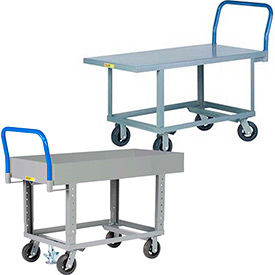 Little Giant® Steel Deck Ergonomic Work Height Platform Trucks