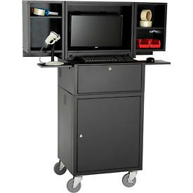 Cabinet mobile rabattable informatique