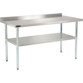 2 Inch Backsplash - Stainless Steel Workbench