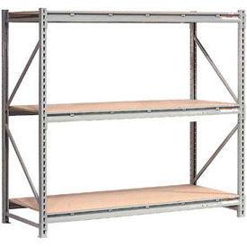 Global - Rack de stockage de vrac métalliques capacité extra-haute avec terrasse en bois