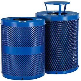 Global Industrial™ thermoplastique en acier enduite de recyclage des récipients