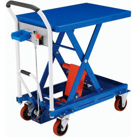 Global Industrial™ Mobile Scissor Lift Tables with Hook-on Bin