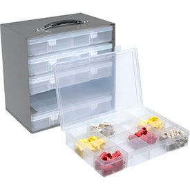Boîtes de compartiment en acier avec boîtes en plastique de compartiment